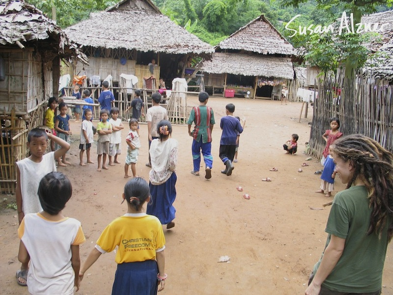 Ani DiFranco visits a Burmese refugee camp on the border of Thailand and Burma