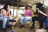 Indigo Girls, Cecila Rodriguez and Lori Pourier speak with Comandante Tatcho - Zapatista village of La Realidad in Chiapas, Mexico